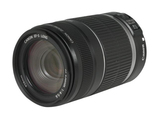 Canon 2044B002 EF-S 55-250mm f/4-5 6 IS II Telephoto Zoom Lens Black -  Newegg com