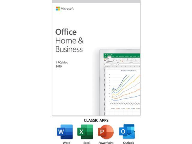 Microsoft Office Home and Business 2019 | 1 device, Windows 10 PC/Mac Key Card