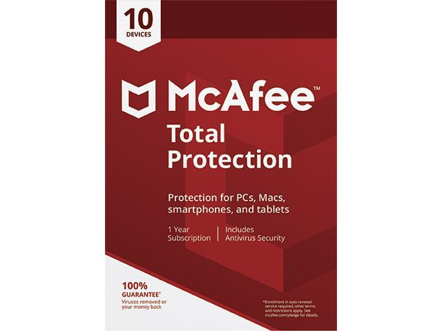 McAfee Total Protection 2018 - 10 Device / 1 Year