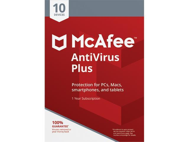 McAfee AntiVirus Plus 2019 - 10 Device 1 Year (Download)