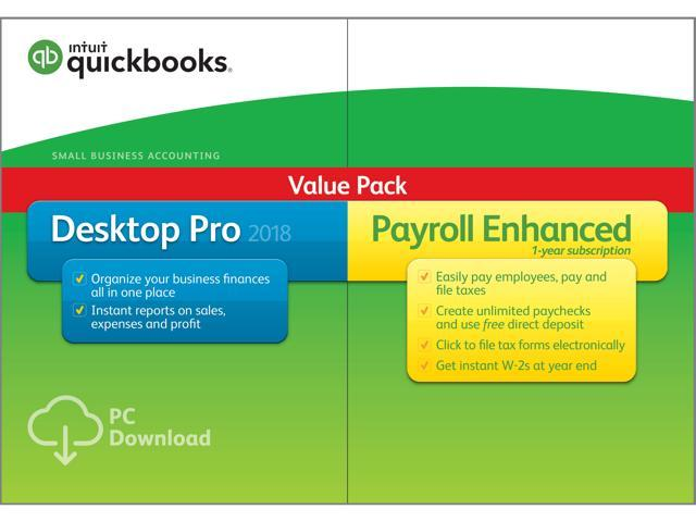 Intuit QuickBooks Desktop Pro With Enhanced Payroll Download - Download quickbooks products