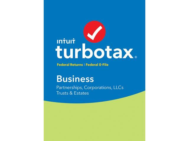 Intuit Turbotax Business 2018 Federal Efile For Windows