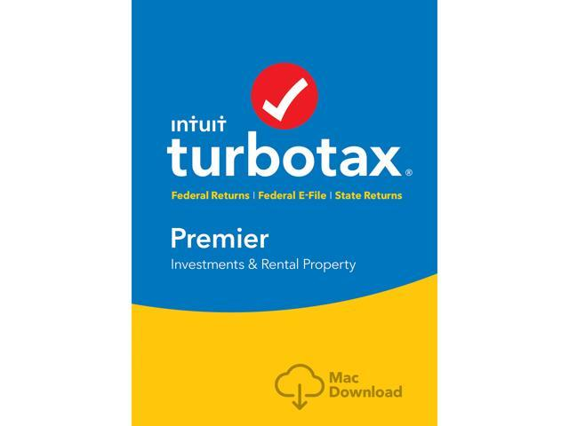 Intuit TurboTax Premier 2018, Federal with State + Efile for Mac - Download [MAC Download]