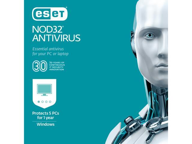 ESET NOD32 Antivirus 2019 - 5 PCs (Product Key Card) - Newegg com