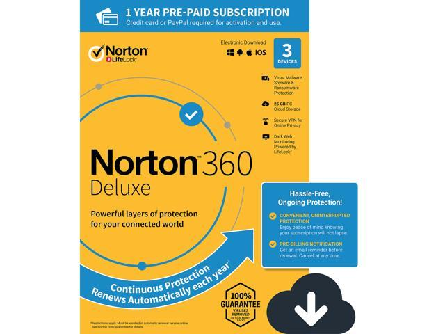 Norton 360 Deluxe 3 Devices / 1 Year (Download)