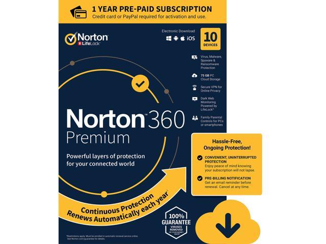 Norton 360 Premium 10 Devices /1 Year (Download)