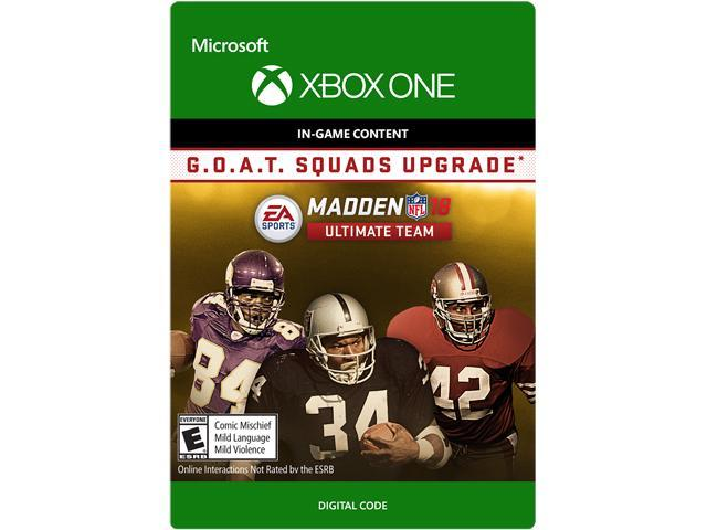 Madden NFL 18 - G.O.A.T. Squads Upgrade Xbox One  Digital Code ... 9109a0b17f3
