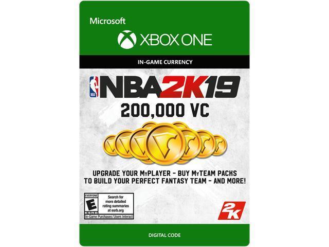 Nba 2k19 200 000 Vc Xbox One Digital Code Newegg Com