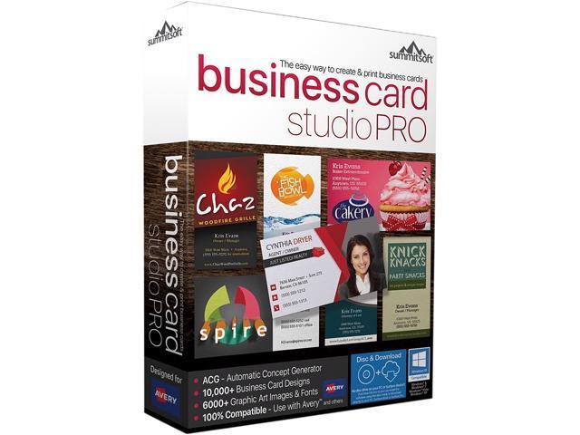 summitsoft business card studio pro download newegg com