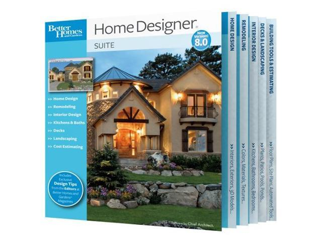 Chief Architect Better Homes And Gardens Home Designer Suite 8 0 Software
