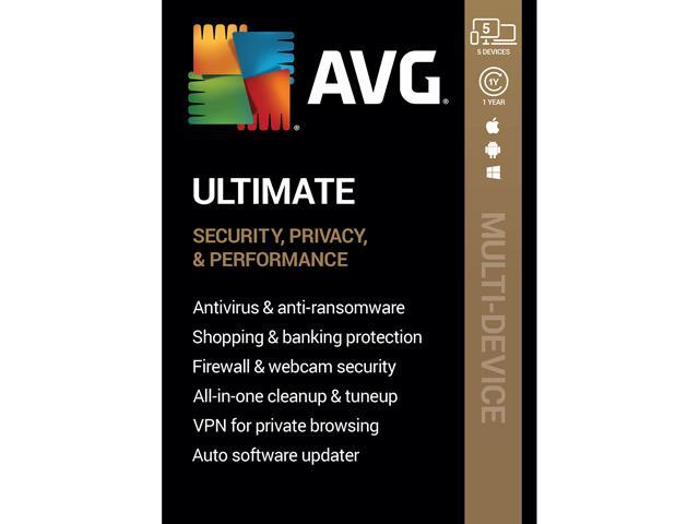 AVG Ultimate 2020, 5 Devices 1 Year [Key Card]