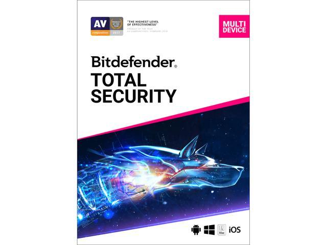 Bitdefender Total Security 2020 - 2 Year/5PCs (Download)