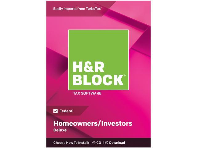H&R BLOCK Tax Software Deluxe 2018 - Federal Only