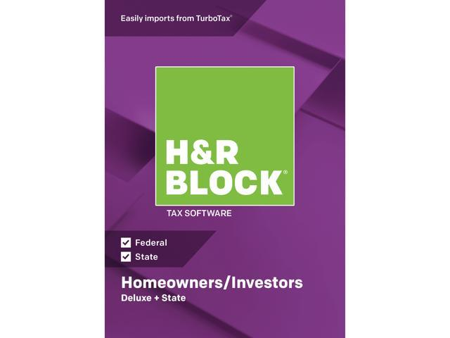 H&R BLOCK Tax Software Deluxe + State 2018 Mac - Download