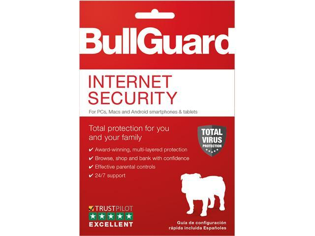 Bullguard bg1846 internet security 2018 1-year subscription for up.