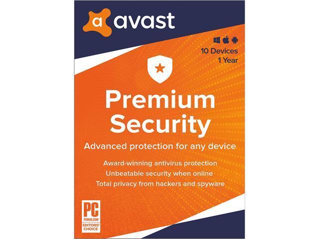 Avast Premium 2020, 10 Devices 1 Year [Key Card]