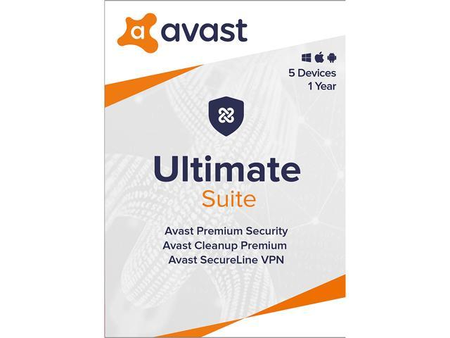 Avast Ultimate Suite 2020, 5 Devices 1 Year [Key Card]
