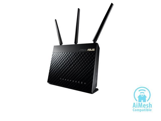 ASUS AC1900 Wi-Fi Dual-band 3x3 Gigabit Wireless Router with AiProtection  Network Security Powered by Trend Micro, AiMesh Whole Home Wi-Fi System