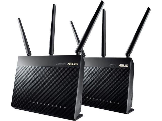 ASUS AiMesh AC1900 Whole Home Wi-Fi System, Dual-band 3x3 with USB 3.0 and AiProtection Powered by Trend Micro (RT-AC68U 2 Pack Retail)
