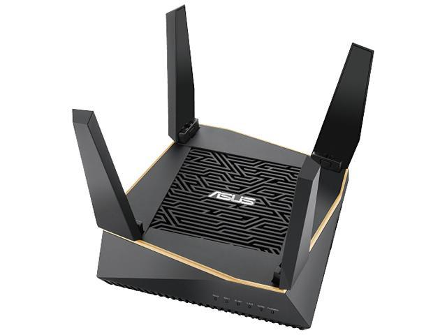 ASUS AX6100 Tri-band WiFi 6 Gaming Router, Game Acceleration, Mesh WiFi support, Lifetime Free Internet Security, Gamer Private Network, Mobile Game Boost, Streaming & Gaming