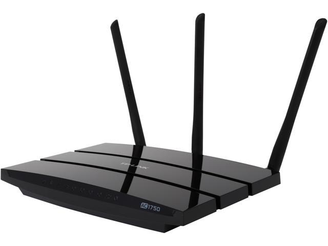 Refurbished: TP-LINK Archer C7 AC1750 Dual Band Wireless AC Gigabit Router,  2 4GHz 450Mbps+5Ghz 1350Mbps, 2 USB Ports, IPv6, Guest Network-V1 -