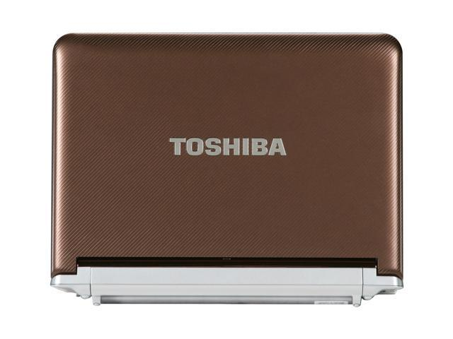 TOSHIBA NB305-N410BN Brown Intel Atom N450(1.66 GHz) 10.1