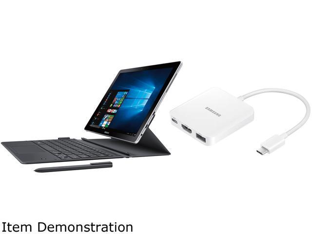 samsung galaxy book sm w720nzkaxar kit 2 in 1 laptop bundle with