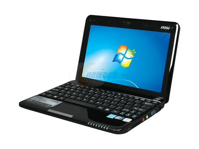 msi wind l1350 431us black intel atom n450 1 66 ghz 10 0 wsvga 1gb rh newegg com MSI Wind Notebook Manual Netbook with Keyboard