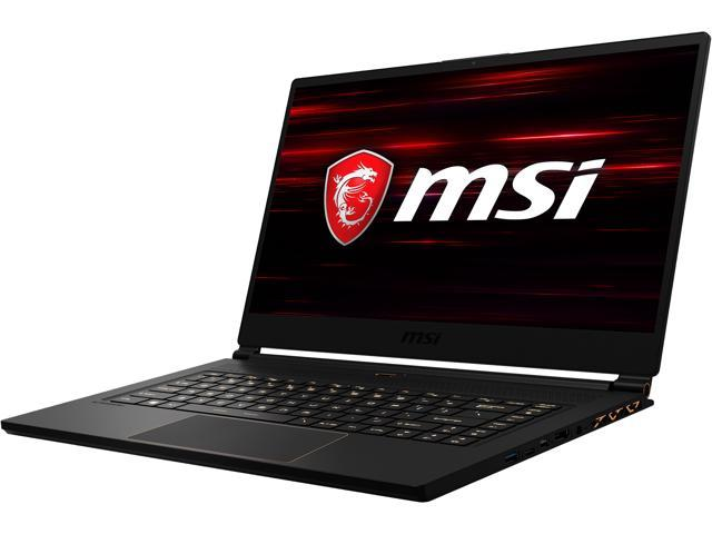 "MSI GS Series GS65 8SE-083CA Stealth 15.6"" 144 Hz Intel Core i7 8th Gen 8750H (2.20 GHz) NVIDIA GeForce RTX 2060 16 GB Memory 512 GB NVMe SSD Windows 10 Pro 64-bit Gaming Laptop"