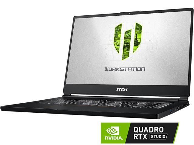 "MSI WS Series WS65 9TM-856 Mobile Workstation Intel Core i7 9th Gen 9750H (2.60 GHz) 32 GB Memory 512 GB NVMe SSD NVIDIA Quadro RTX 5000 15.6"" 4K/UHD Windows 10 Pro 64-bit"