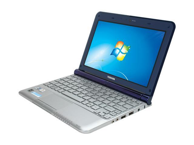 TOSHIBA Mini NB305-N600 Aluminum Finish in Blue Intel Atom N550