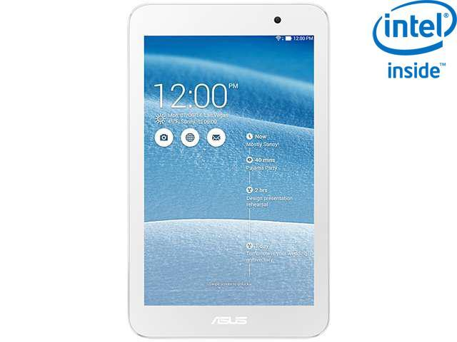 """ASUS MeMO Pad 7 (ME176CX-A1-WH) Intel Atom Z3745 1 GB Memory 16 GB eMMC 7.0"""" Touchscreen Tablet Android 4.4 (KitKat)"""