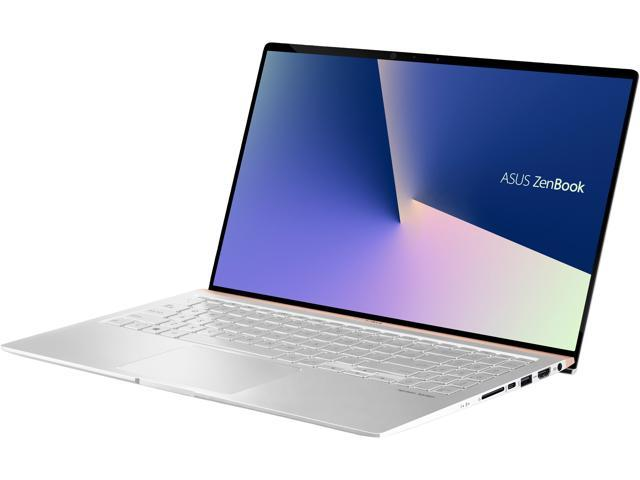 "ASUS ZenBook15.6"" Intel Whiskey Lake i7-8565U, 16 GB DDR4, 1 TB PCIe SSD, GTX 1050, IR Camera, Windows 10 Pro - Icicle Silver Ultra Slim Compact FHD 4-Way NanoEdge - UX533FD-NS76 Newegg Exclusive"