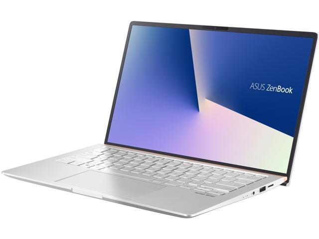 "ASUS ZenBook 14 Ultra-Slim Laptop 14"" Full HD 4-Way NanoEdge Bezel, AMD R7 3700U CPU, 16 GB DDR4, 1 TB PCIe SSD, Windows 10 Pro - UM433DA-NH74, Icicle Silver"