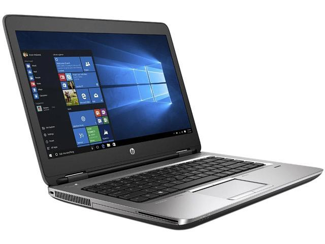 "HP Grade A Laptop ProBook 640 G2 Intel Core i5 6th Gen 6300U (2.40 GHz) 8 GB Memory 256 GB SSD Intel HD Graphics 520 14.0"" Windows 10 Pro 64-bit (No Webcam)"