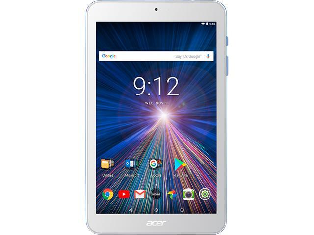 """Acer Iconia One 8 B1-870-K7MZ Tablet - 8"""" - 1 GB DDR3L SDRAM - MediaTek Cortex A35 MT8167B Quad-core (4 Core) 1.30 GHz - 16 GB - Android 7.0 Nougat - 1280 x 800 - In-plane Switching (IPS) Technology"""