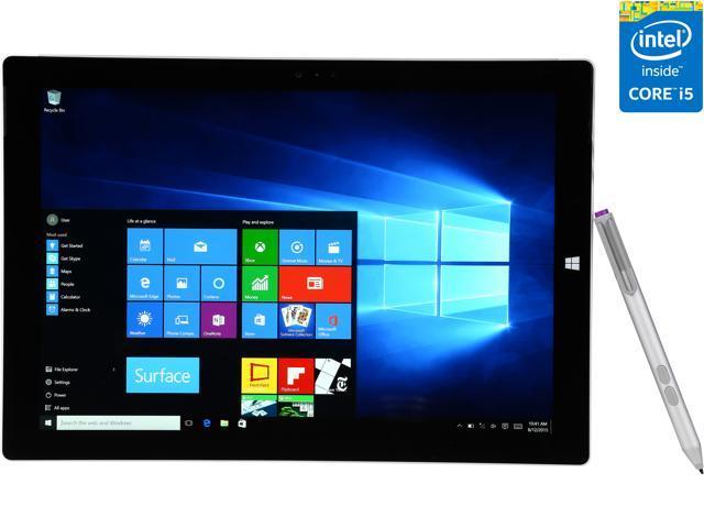 Microsoft Surface Pro 3 Intel Core i5 4300U (1.90 GHz) 4 GB Memory Intel HD Graphics 4400 Touchscreen 2160 x 1440 Tablet PC Windows 10 Pro