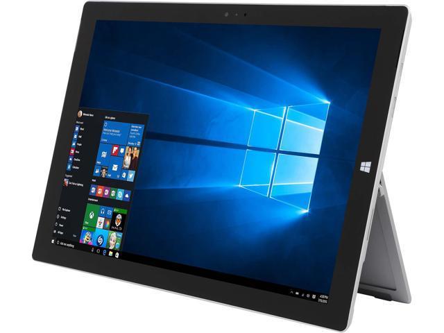 "Microsoft Surface Pro 3 Intel Core i5 4300U (1.90 GHz) 8 GB Memory 256 GB SSD 12.0"" 2160 x 1440 Grade A Tablet Windows 10 Pro Silver"