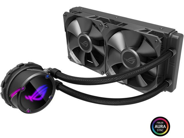 ASUS ROG Strix LC 240 RGB AIO Liquid CPU Cooler 240mm Radiator, Dual 120mm  4-pin PWM Fans with FanXpert Controls, support for Intel and AMD