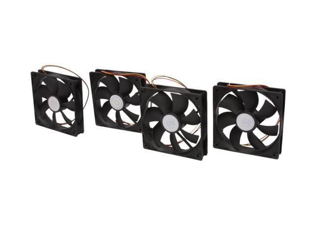 4 Pack Cooler Master R4-S2S-124K-GP 120mm Silent Case Fan