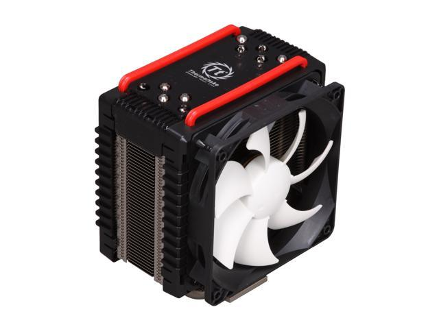 Thermaltake Frio Overclocking-Ready Intel Core i7 (6-core ready) & i5 Compatible Five 8mm Heatpipes Dual 120mm Fans Intel & AMD Universal CPU Cooler CLP0564 - Retail