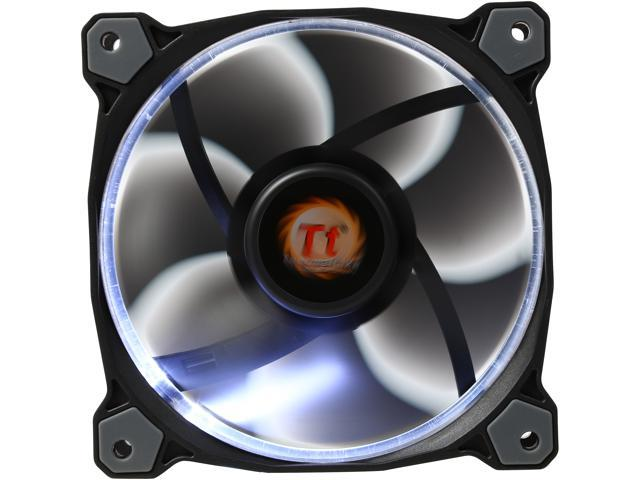 Thermaltake CL-F038-PL12WT-A White LED Case Fan - Newegg com