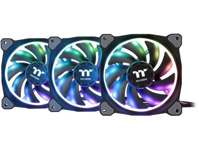 Thermaltake Riing Plus 12 RGB TT Premium Edition 120mm Software Enabled  Circular 12 Controllable LED RGB Ring Case/Radiator Fan - Triple Pack -