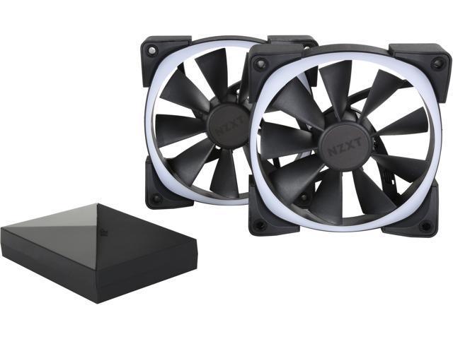 NZXT RF-AR120-C1 120mm RGB LED Aer RGB120 & HUE+ 2 x Advanced RGB LED PWM  Fan with HUE+ Controller - Newegg ca