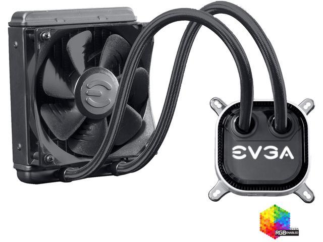 EVGA CLC 120 Liquid Water CPU Cooler, 400 HY CL12 V1, 120mm Radiator, RGB LED with EVGA Flow Control Software