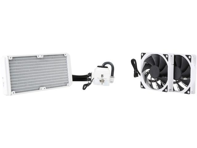 DEEPCOOL Gamer Storm CAPTAIN 240EX WHITE-AIO CPU Liquid Cooler 240mm Ceramic Bearing Pump Visual Liquid Flow Metal Mounting Kit AM4 Compatible