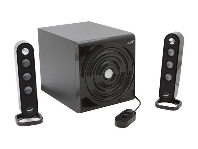 Genius Sw V2 1 1255 40 Watts 2 Sleek 3 Piece Speaker System