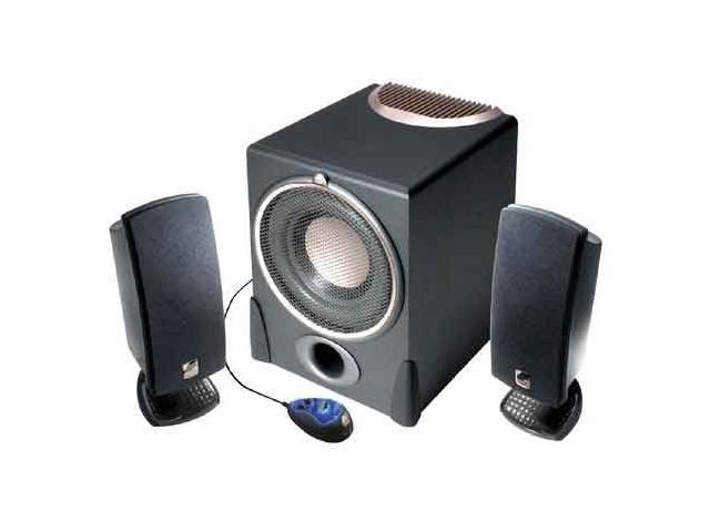 Cyber Acoustics A 3780rb 180 Watts 2 1 Subwoofer And Satellite Speaker System