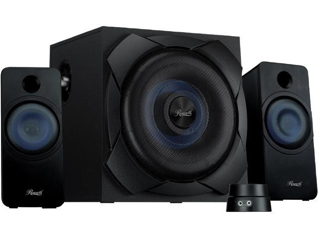 81f16deca62 Rosewill Bluetooth 2.1 Speaker System with Subwoofer and Control Pod, 50  Watts RMS for Music, Movies, Computer, Gaming Systems - BZ-200