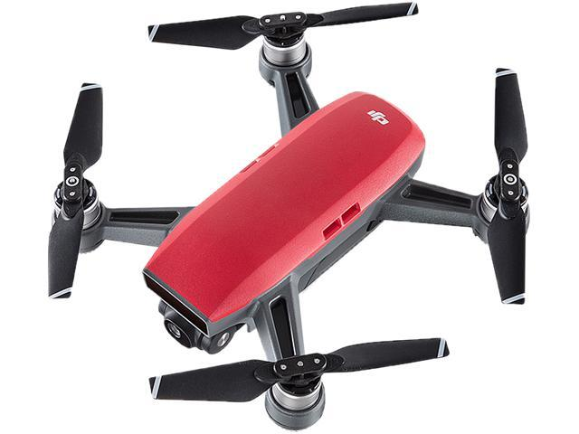DJI Spark Mini Quadcopter Drone Fly More Combo Lava Red